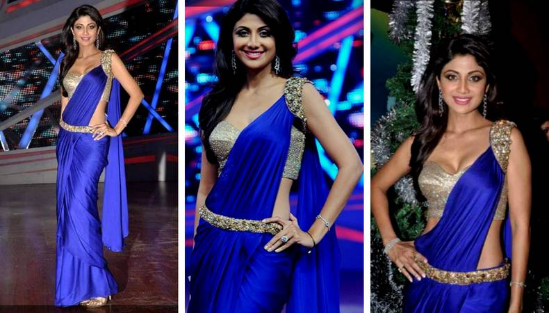 23f9fe5a16 5 Times Shilpa Shetty Rocked the Saree Look – Blog at Candere Buy ...