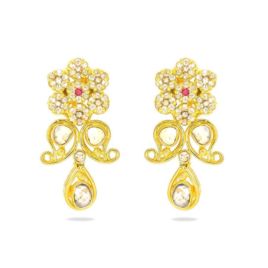 Anokhi Gold EarringsKalyan Jewellers