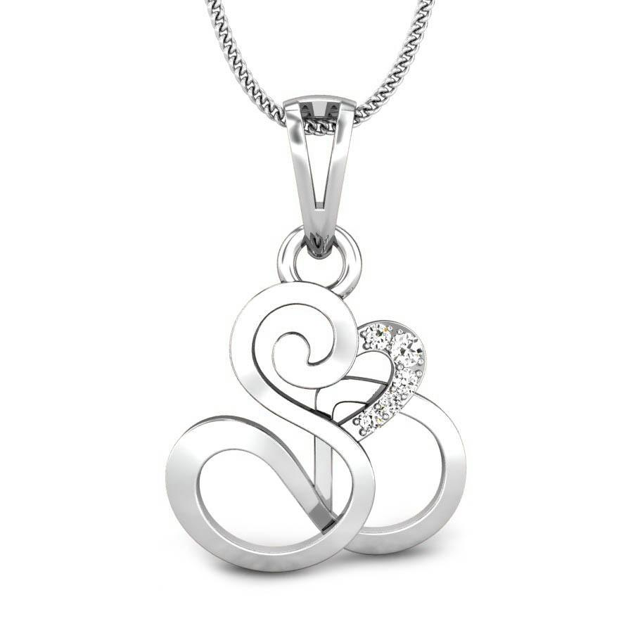 S n b diamond pendant online jewellery shopping india white gold the chain displayed is not part of the jewellery aloadofball Choice Image