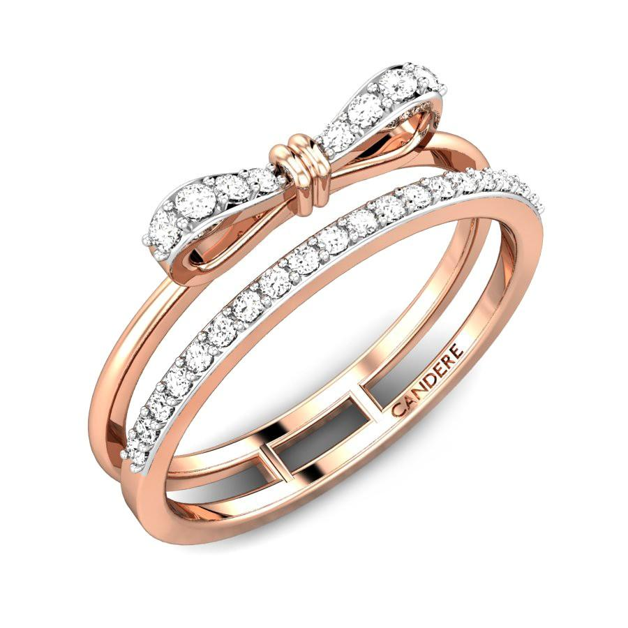 Little Bows Casual Diamond Ring Online Jewellery Shopping India