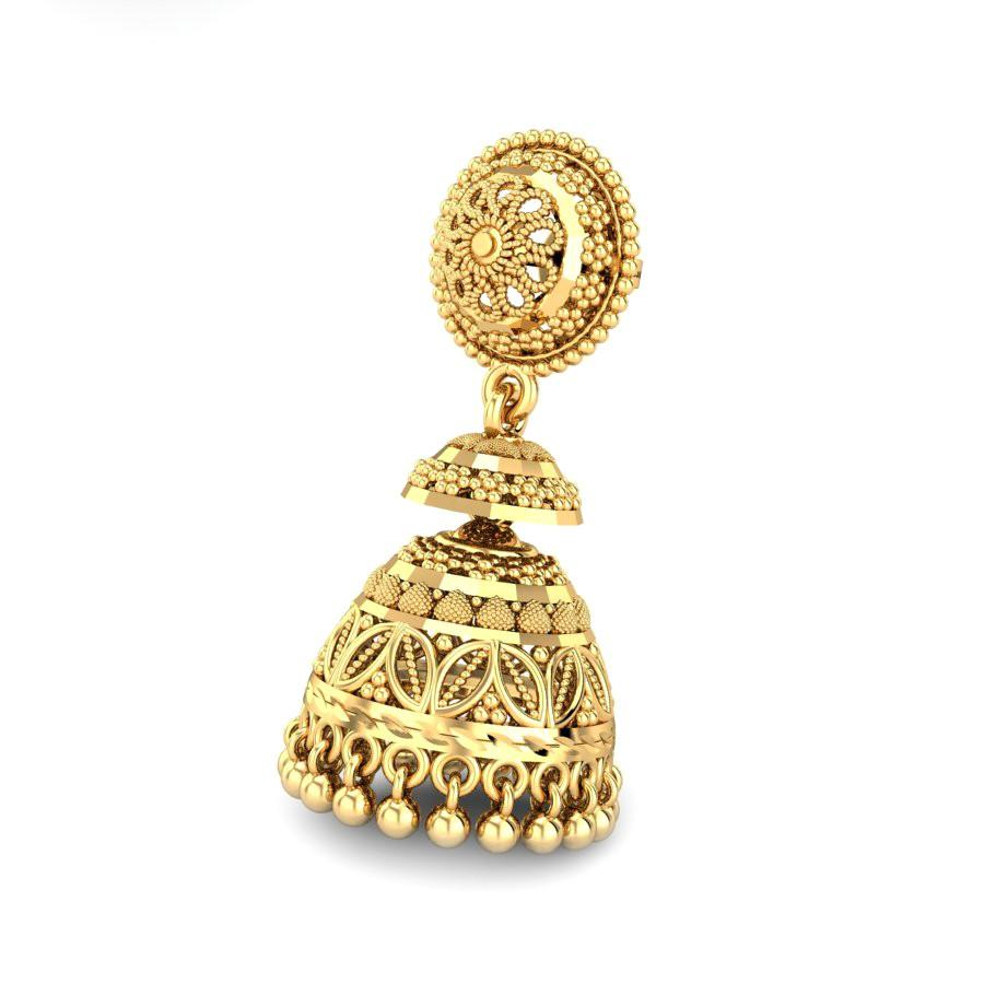 Yellow Gold 22K | Kasturi Gold Earring | Candere.com