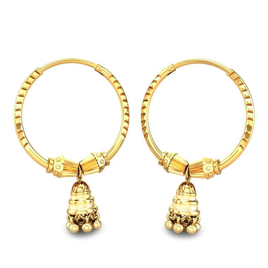Yellow Gold 22K | Milly Gold Earring | Candere.com
