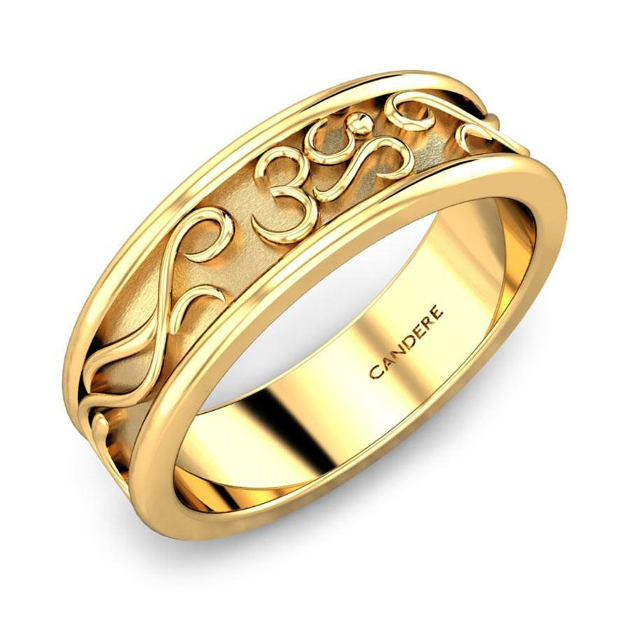 Rudra Om Gold Band For Him Jewellery Shopping Online India ...