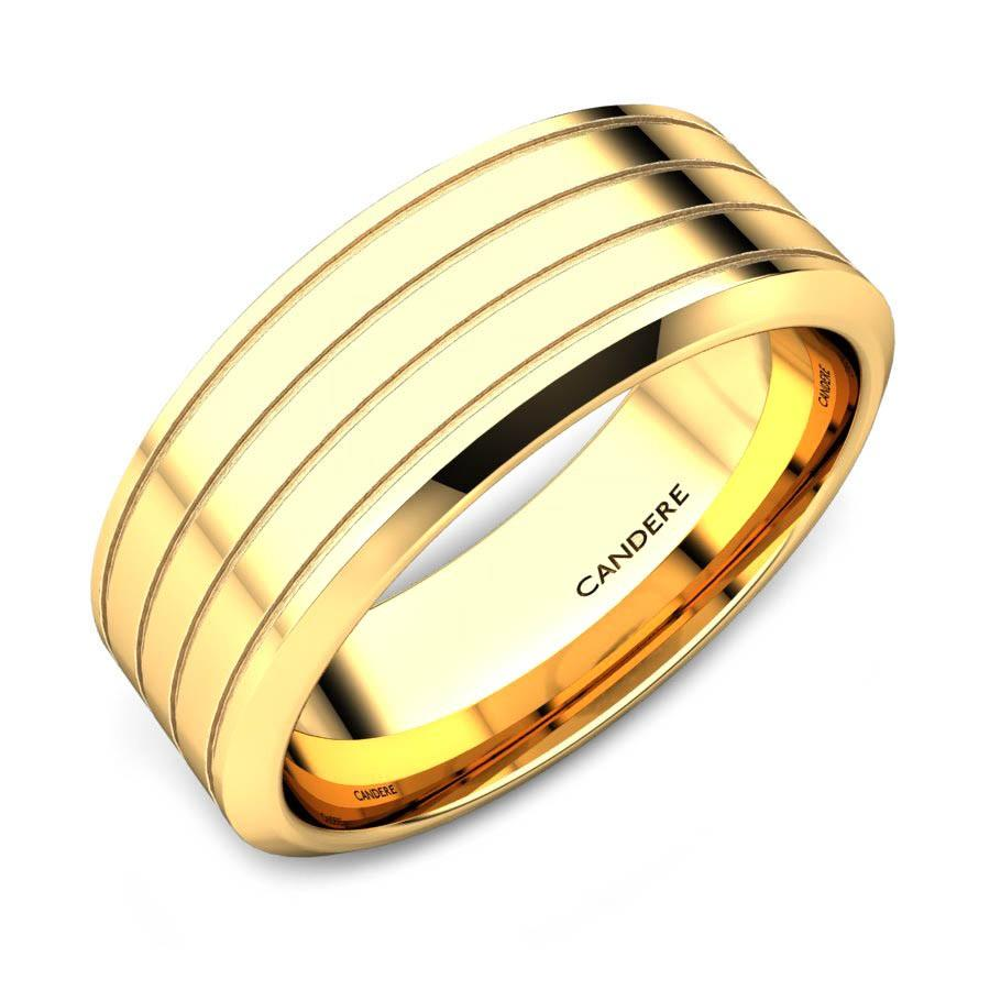Spencer Gold Band For Him Jewellery Shopping Online India | Yellow ...