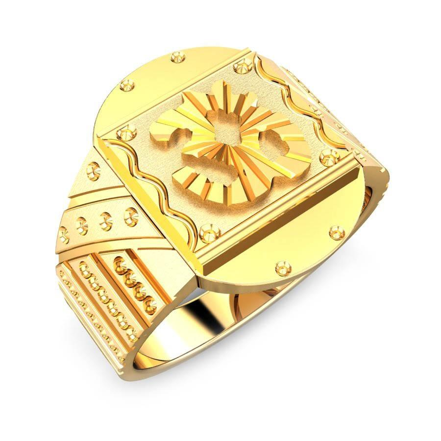 Om Shakti Gold Ring Jewellery Shopping Online India | Yellow Gold ...