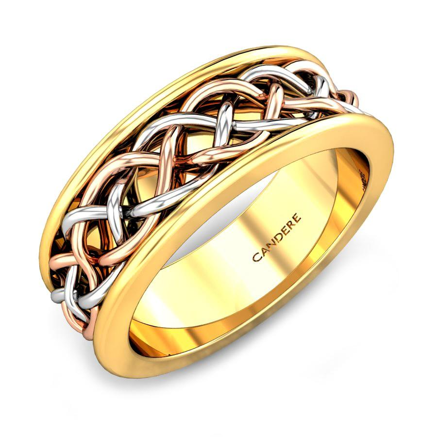 Rose Gold 22K | Old English Gold Ring | Candere.com
