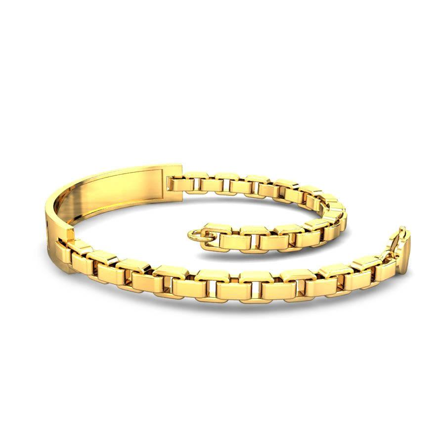 Yellow Gold 22K | Old Brute Gold Bracelet | Candere.com