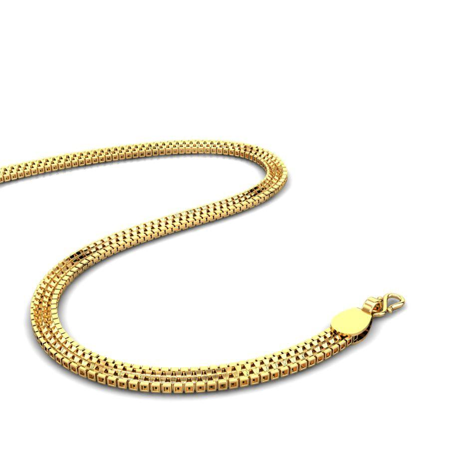 Yellow Gold 22K | Highway Gold Chain | Candere.com