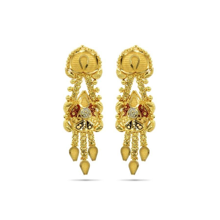 The Bengali Bride Gold Earrings Jewellery Shopping Online India ...