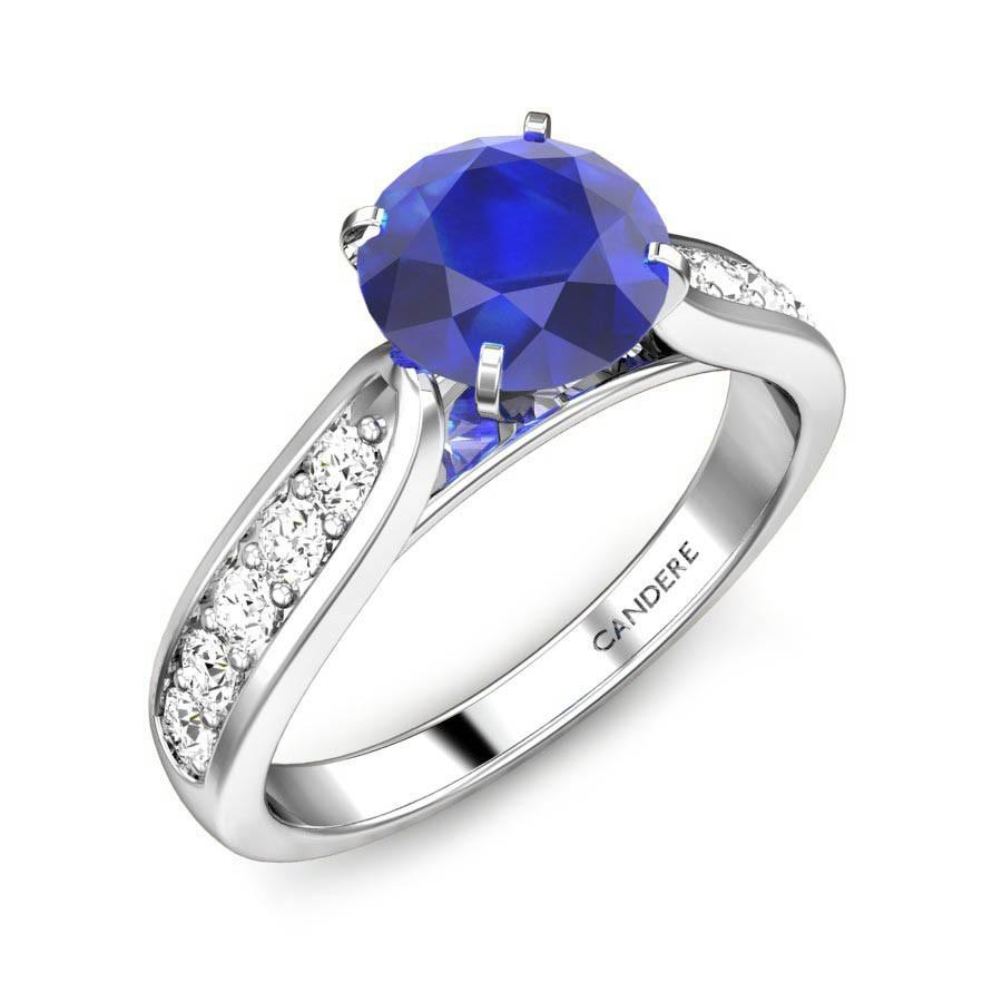 cac6b9106a00 Royal Blue Sapphire 1.00ct Ring Online Jewellery Shopping India ...