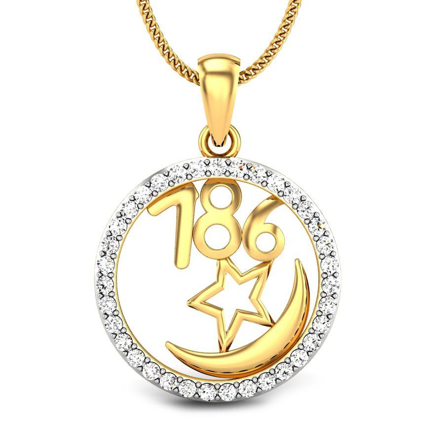 786 Diamond Pendant ...