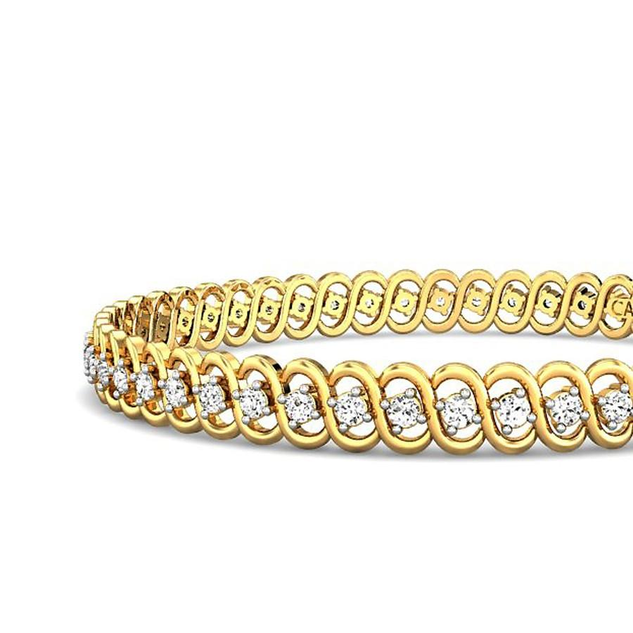 picture of bangle studded diamond nigaam gold white