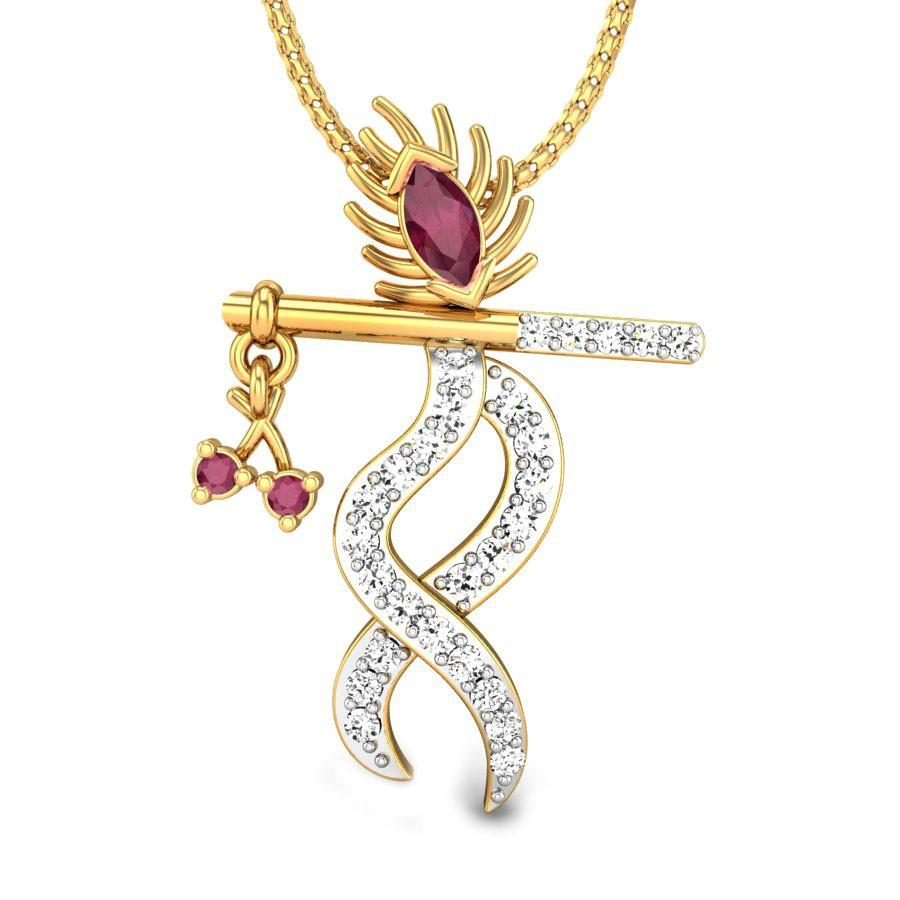 Flute red spinel pendant online jewellery shopping india yellow flute red spinel pendant online jewellery shopping india yellow gold 18k candere a kalyan jewellers company aloadofball Image collections