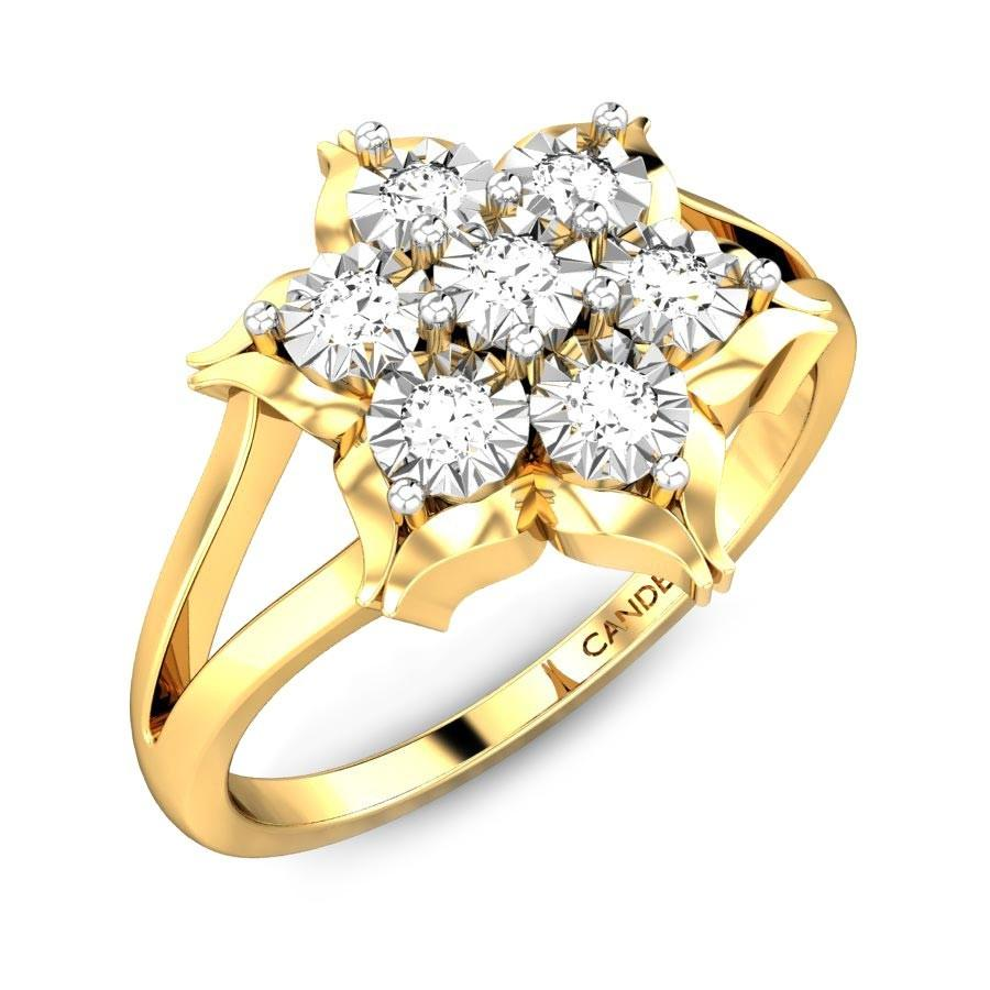 Edelweiss Miracle Plate Diamond Ring Online Jewellery Shopping India