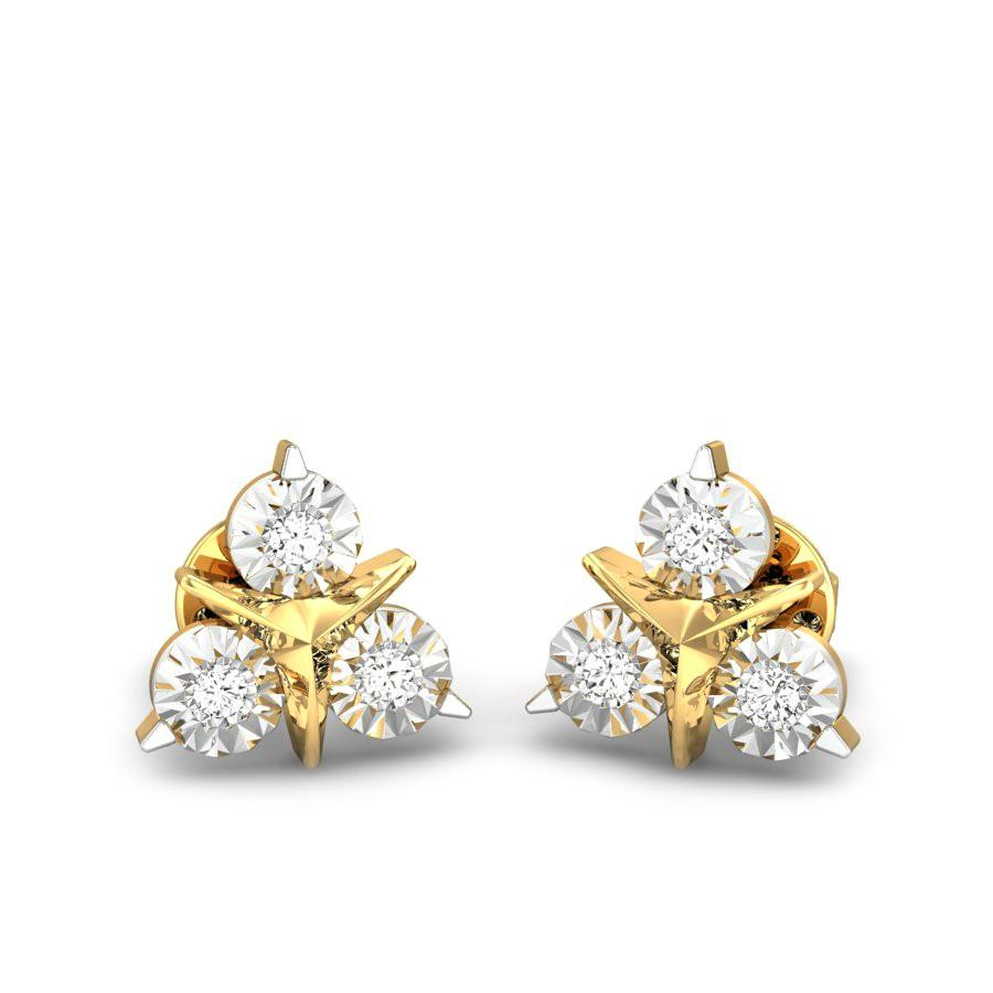 Diamond Earrings Online 893 Designs Price Starting From 4933 Candere By Kalyan Jewellers
