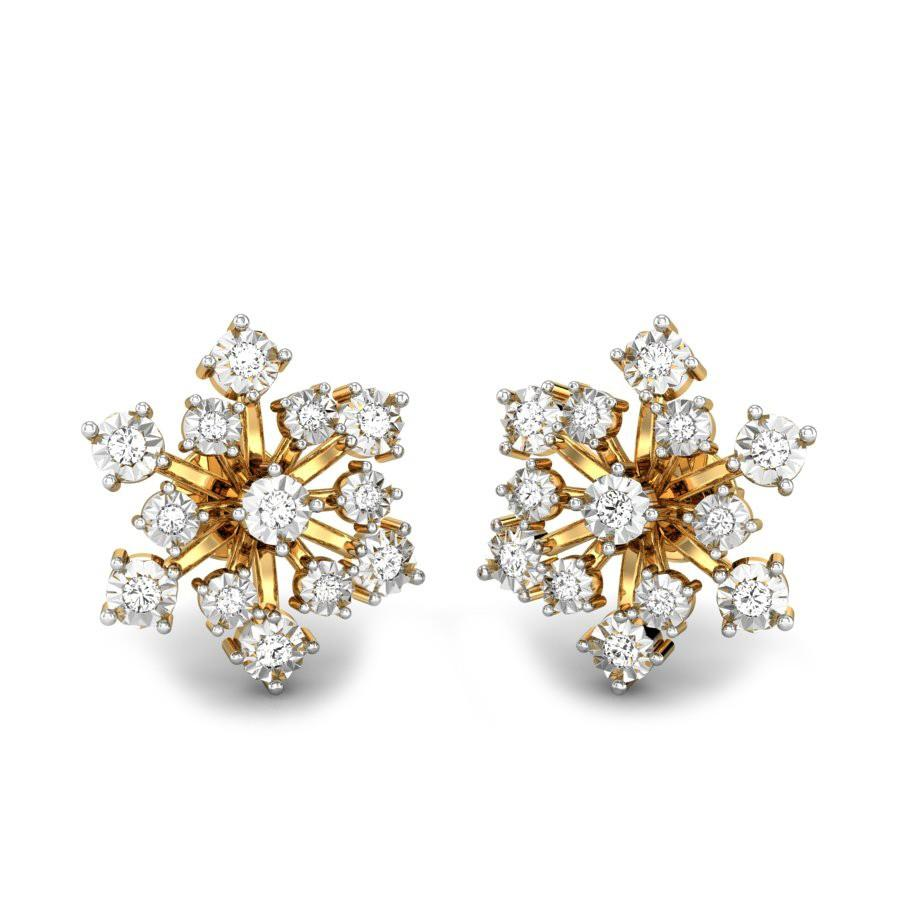 earrings lucy front tea silver rose mui diamond gold white products