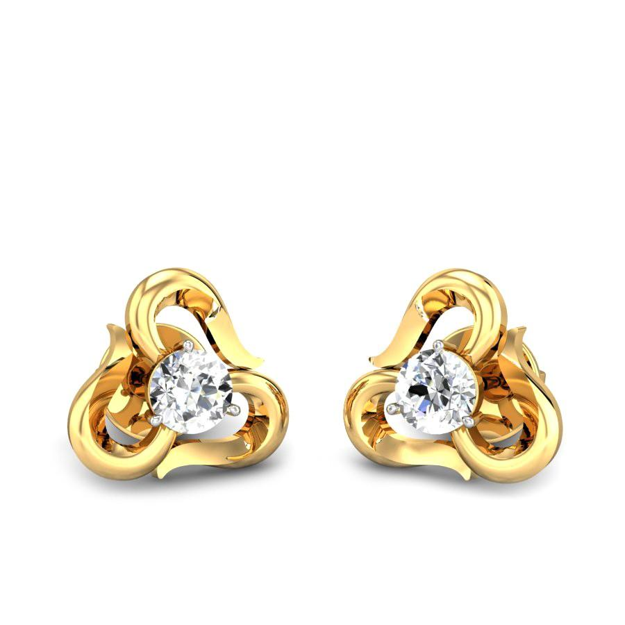 2d39c0011c3fd Ribbona Solitaire Diamond Earrings