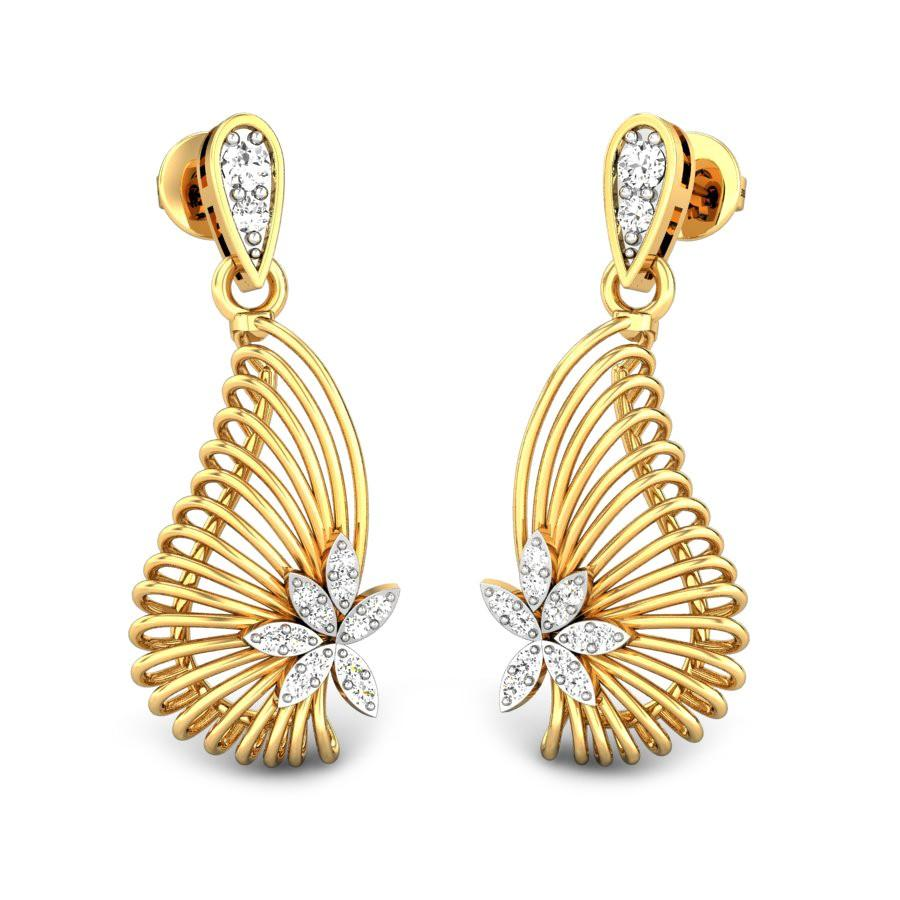 diamond boucles licates p jewellery shape d avec en earrings set gold de wheel oreilles fleurs carrousel diamants k in tales