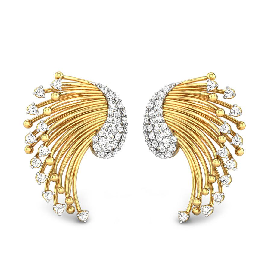 Monsoon Peacock Meraki Diamond Earrings FS