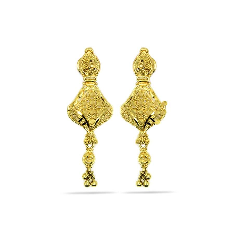 work in delicate shop gold hanging earrings jewellersparmar pune art jewellers designer golden parmar jewellery tops