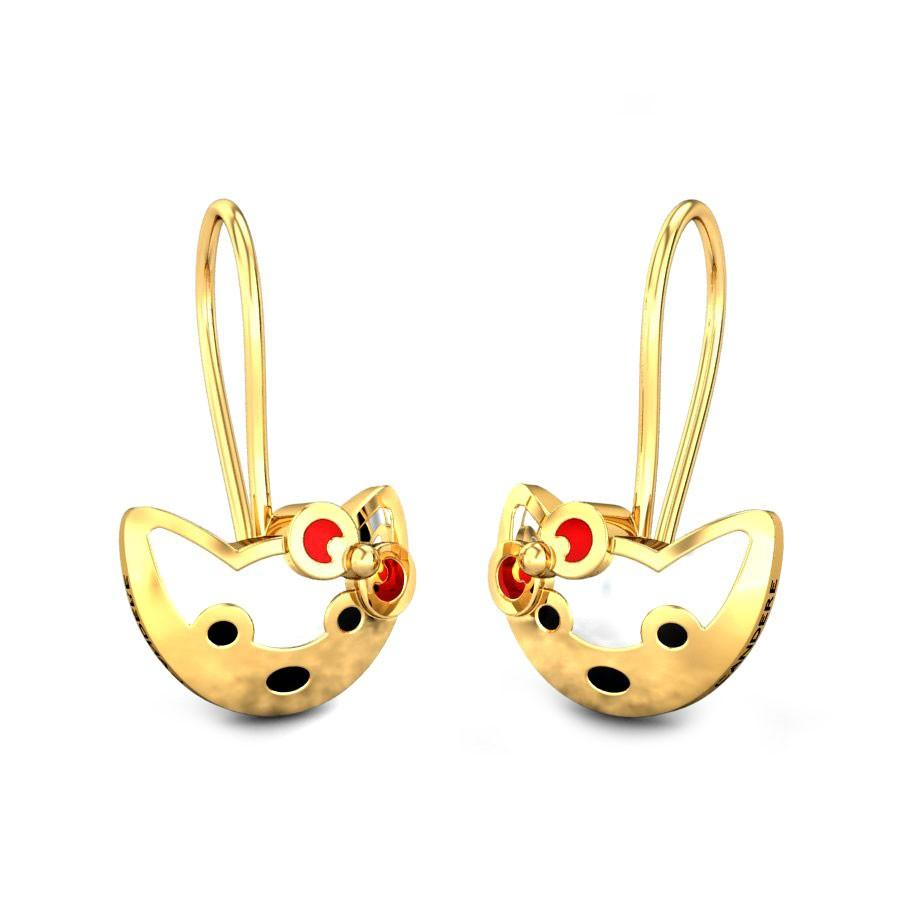 Hello Kitty Kids Gold Earrings Online Jewellery Shopping India