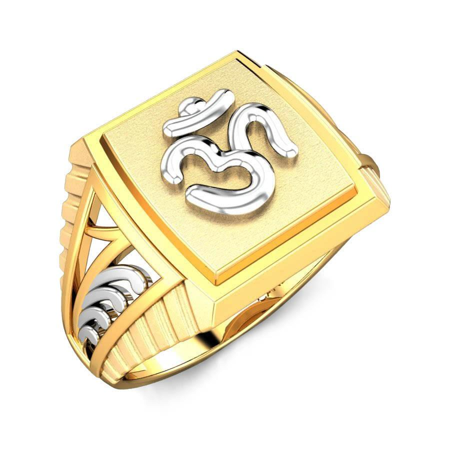 Om Shanti Gold Ring Online Jewellery Shopping India | Yellow Gold 22K | Candere by Kalyan Jewellers