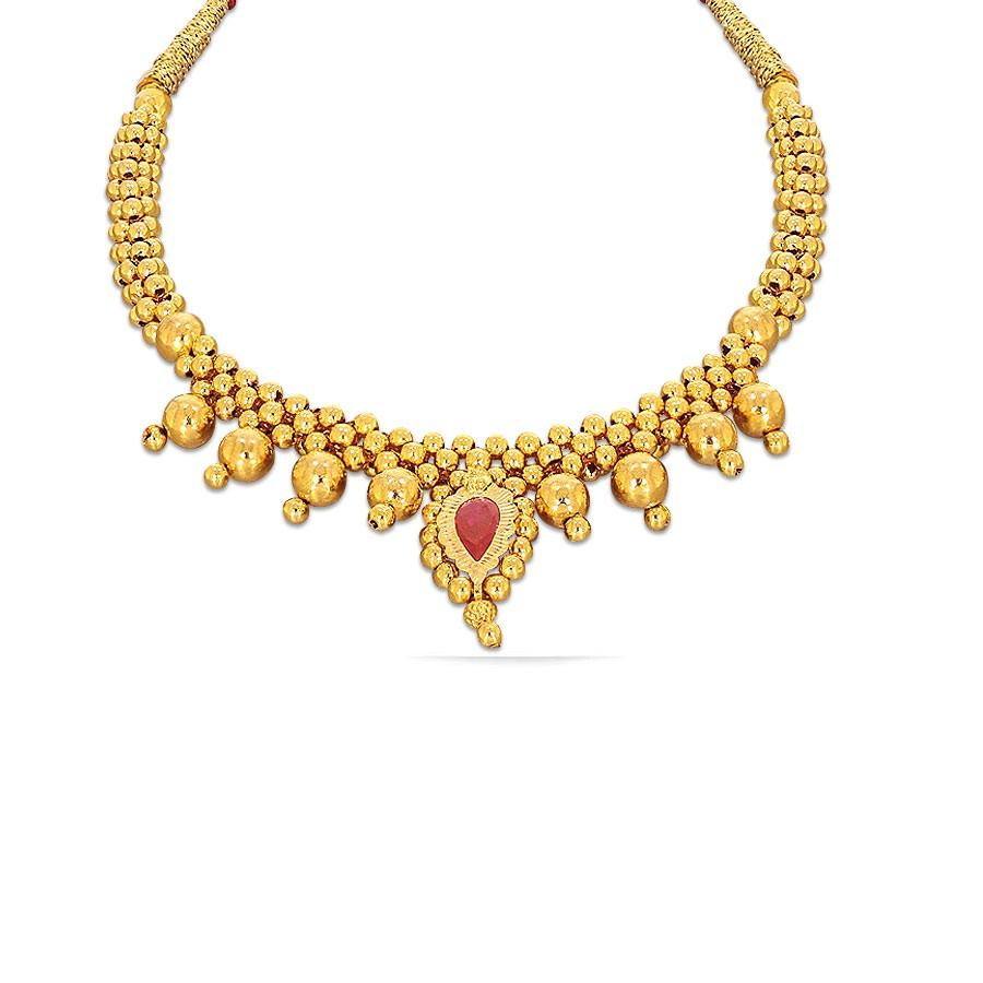 ff76ef6d1 Dharika Tushi Kyra Gold Necklace Online Jewellery Shopping India ...
