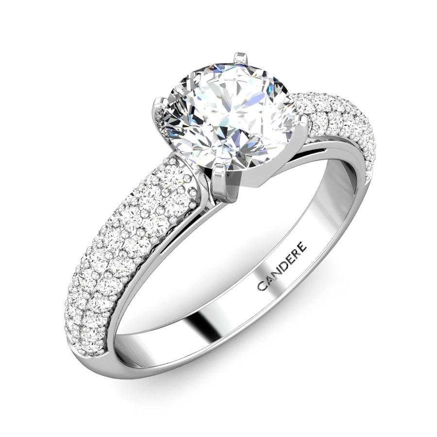 cut women solitaire for prong engagement index rings diamond round brilliant setting