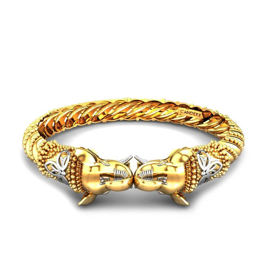 Buy Gold Kada & Bracelets for Men | Latest Designs | Candere.com ...