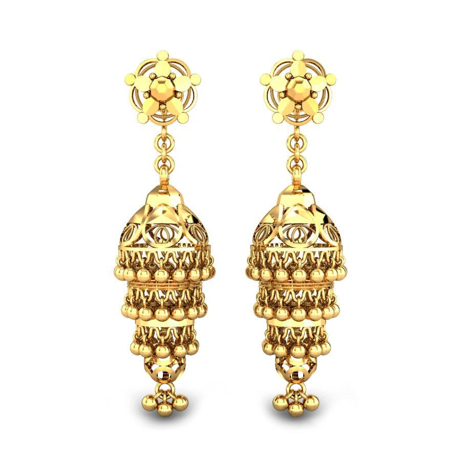 Nargis Gold Jhumka Online Jewellery Shopping India Yellow Gold