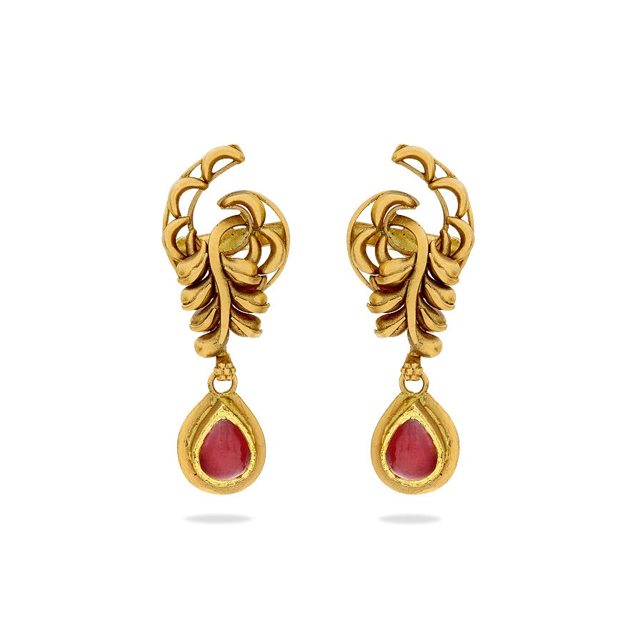 Mudhra Gold Earrings