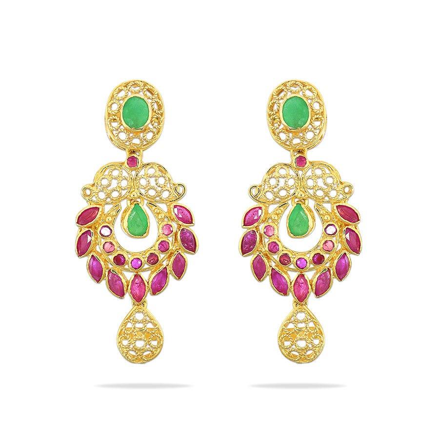 Rang Gold EarringsKalyan Jewellers