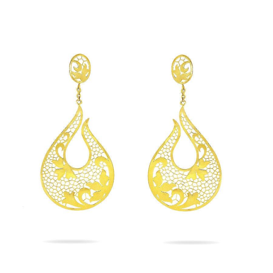 Sankalp Gold EarringsKalyan Jewellers