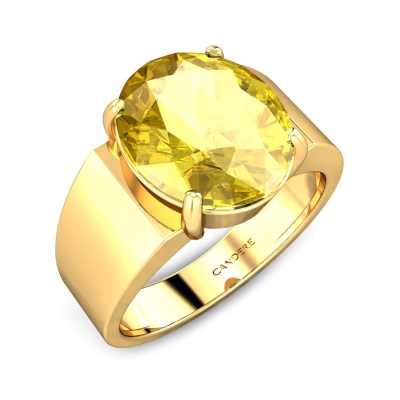 a9818098d1eb7 Buy Yellow Sapphire Ring for Women, 20+ Yellow Sapphire Jewellery ...