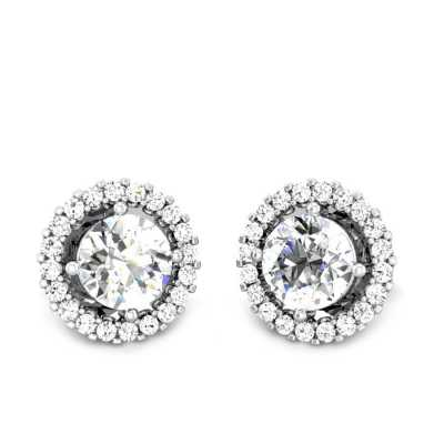 8ce3679e97df1 Buy Solitaire Earrings Online | 100+ Solitaire Earrings Designs ...
