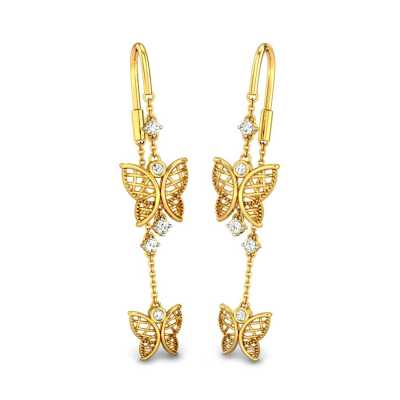 Buy Sui Dhaga Earrings Online Gold Diamond Sui Dhaga Earrings