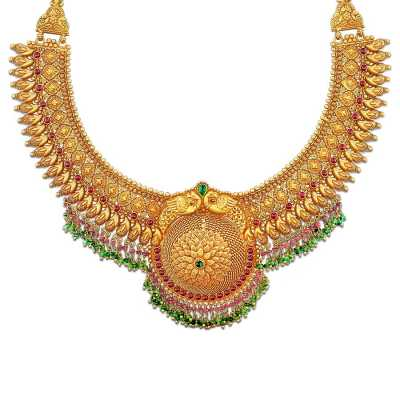 Garima Nimah Gold Necklace Online Jewellery Shopping India
