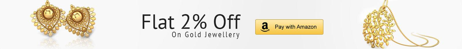 Flat 3 Percent off on all gold jewellery
